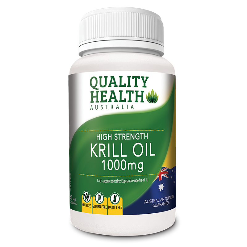 Quality Health High Strength Krill Oil 1000mg 60s Pharmacare Laboratories